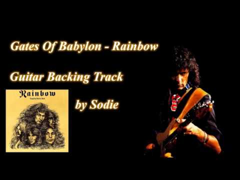 Gates Of Babylon - Rainbow cover by Sodie (Guitar Backing Track)