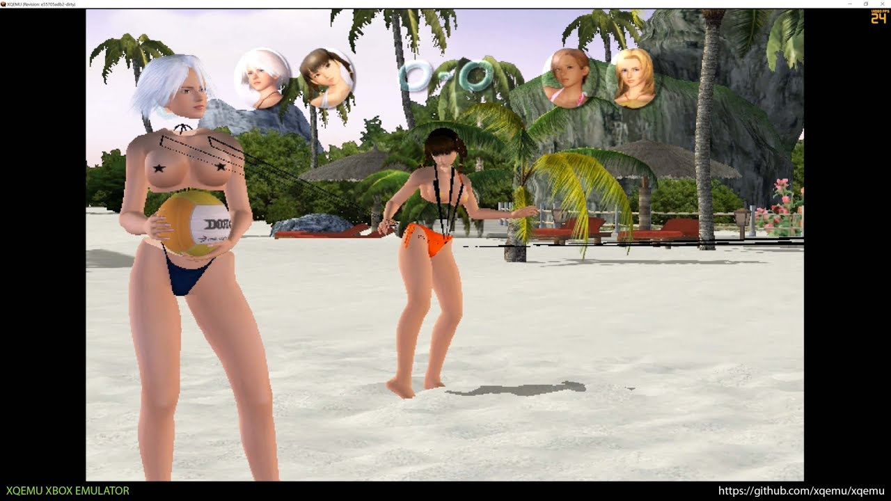 Xqemu Xbox Emulator Dead Or Alive Xtreme Beach Volleyball Ingame 2497e2d Wip Youtube