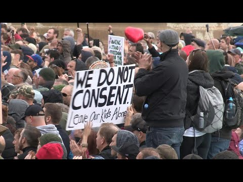 Thousands gather in London for anti-lockdown protest   AFP Thousands of people demonstrating against coronavirus-related restrictions gather in London's Trafalgar Square to voice their disagreement with rules such as ..., From YouTubeVideos