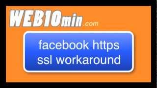 how to setup https in facebook apps without buying ssl certificate