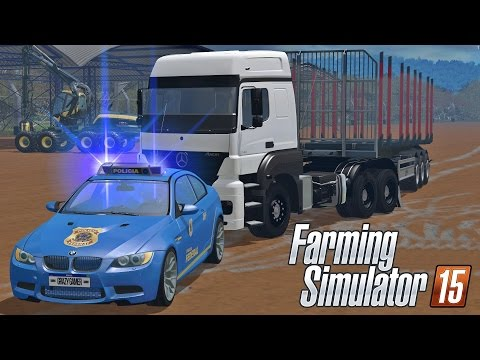 Blitz Policial em Caminhões ilegais - Farming Simulator 15 Multiplayer