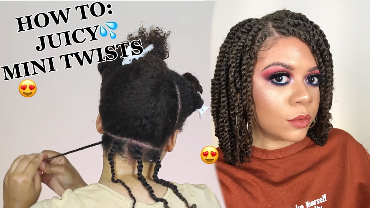How To Do Mini Twists On Natural Hair As A Protective Style No Added Hair Needed Detailed Youtube