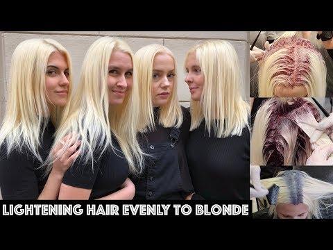 Lightening Hair Evenly To BLONDE