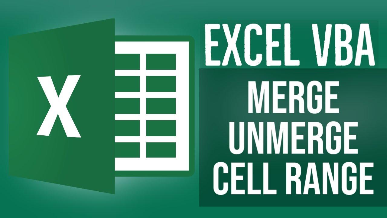 Excel VBA Tutorial for Beginners 13- Merge UnMerge Cell Range in Excel VBA