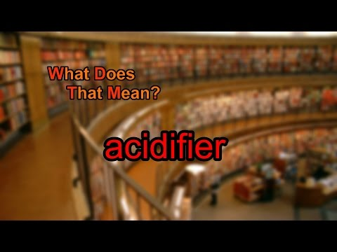 What does acidifier mean?
