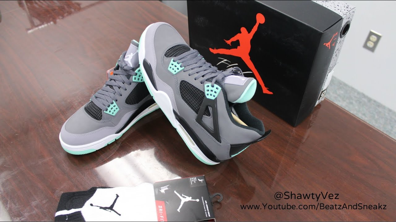 1190aa6f576833 ... switzerland air jordan retro 4 green glow review youtube c4770 f1ae5
