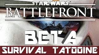 Star Wars Battlefront Beta (2015) PC Gameplay | Missions - SURVIVAL TATOOINE (Single-player) [1080p]