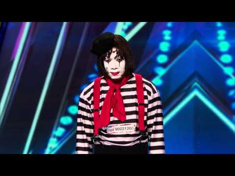 America's Got Talent S09E01 Larry the Mime Prank