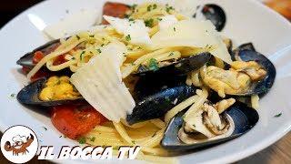 604 - Linguine cozze pomodoro e pecorino..un sapore sopraffino (primo di pesce estivo facile veloce)