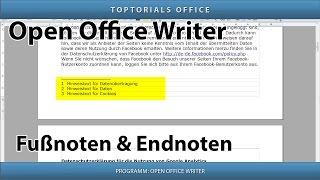 Fußnoten & Endnoten hinzufügen (Open Office Writer)