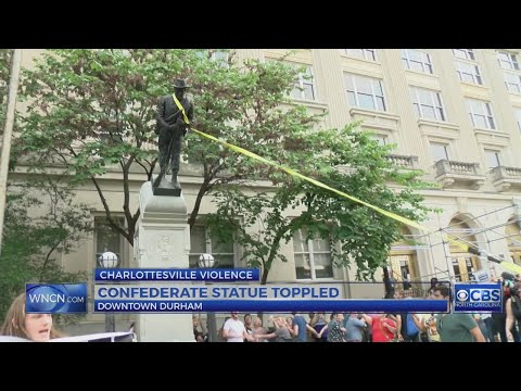 Durham protesters topple Confederate statue at old county courthouse