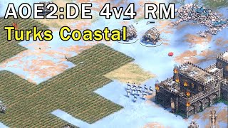 Age of Empires 2: Definitive Edition - 4v4 RM Turks Coastal - eartahhj - 19/11/2019