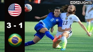 USA vs Brazil 3 - 1 All Goals & Highlights | October 25, 2015