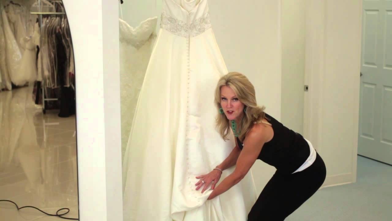 How-to: French Pick-Up Bustle Dress : Bridal Dresses & More - YouTube