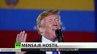 Trump se dirige al Ejército de Venezuela y ofrece dos caminos a seguir