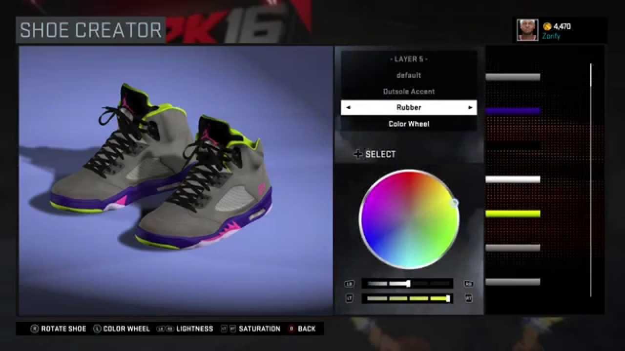 f99cfff5bc5 NBA 2K16 Shoe Creator - Air Jordan 5