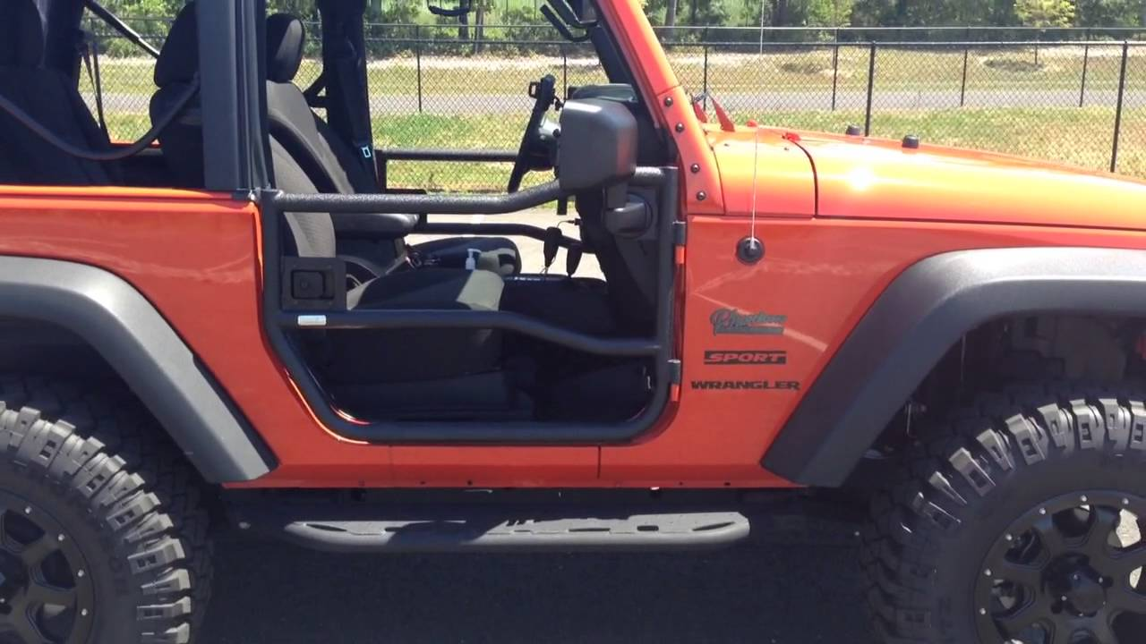 rugged ridge tube doors review on my lifted 2015 jeep wrangler sport jk rocky ridge edition [ 1280 x 720 Pixel ]