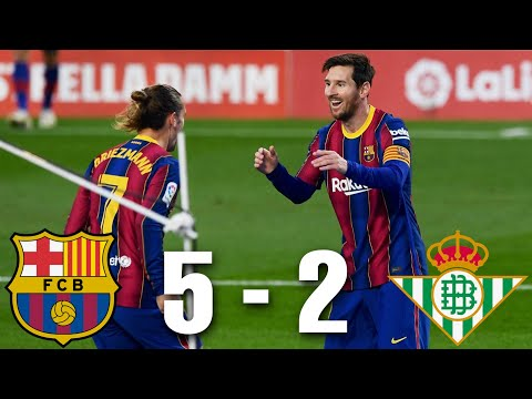 Barcelona vs Real Betis [5-2], La Liga 2020/21 - MATCH REVIEW
