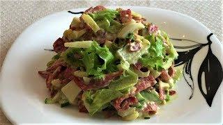 429. Салат с копченой колбасой и огурцом