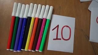 Thanh nấm - Dạy bé học viết số, nhận biết và đếm số từ số 1 đến 9
