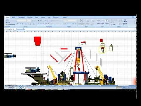 Design a Submersible RIG with Using M Excel
