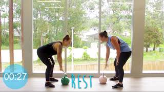 7   Kettle Bell Workout Tahnee and Mel