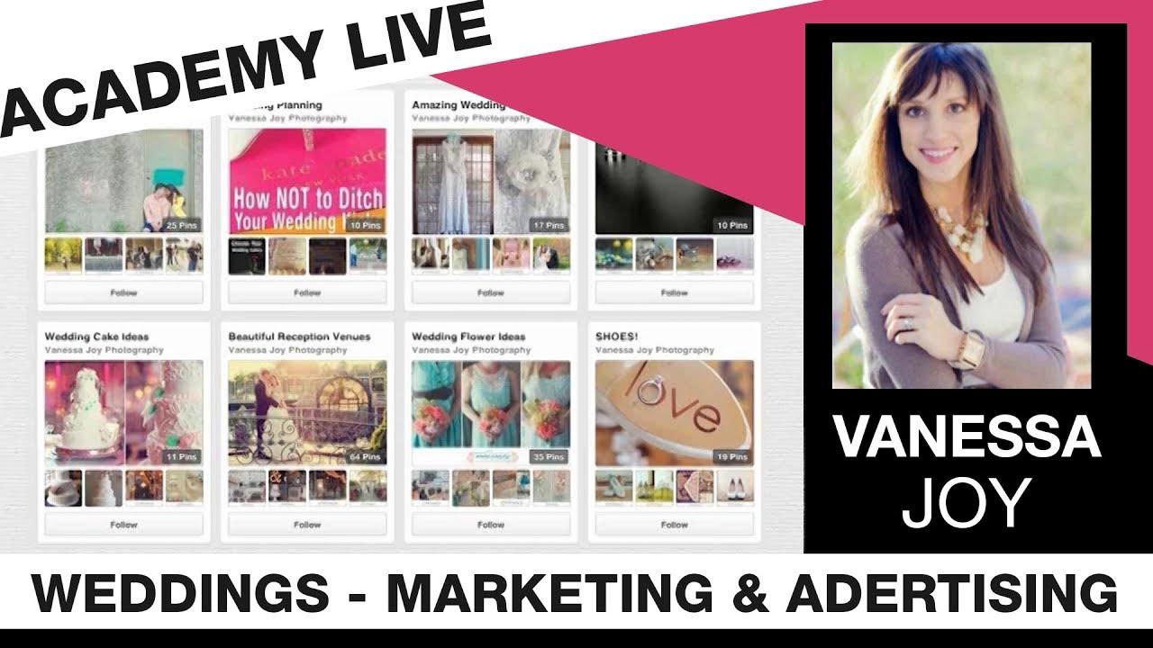 Joy Wedding Website.Academy Live Vanessa Joy Wedding Marketing Advertising