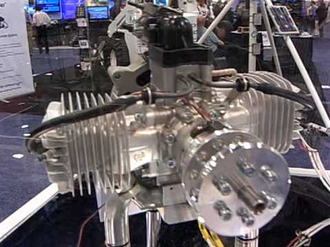 Tiny UAV engines (2 strokes, 2 opposed cylinders). UAV Exhibition  AUVSI 2010 -30