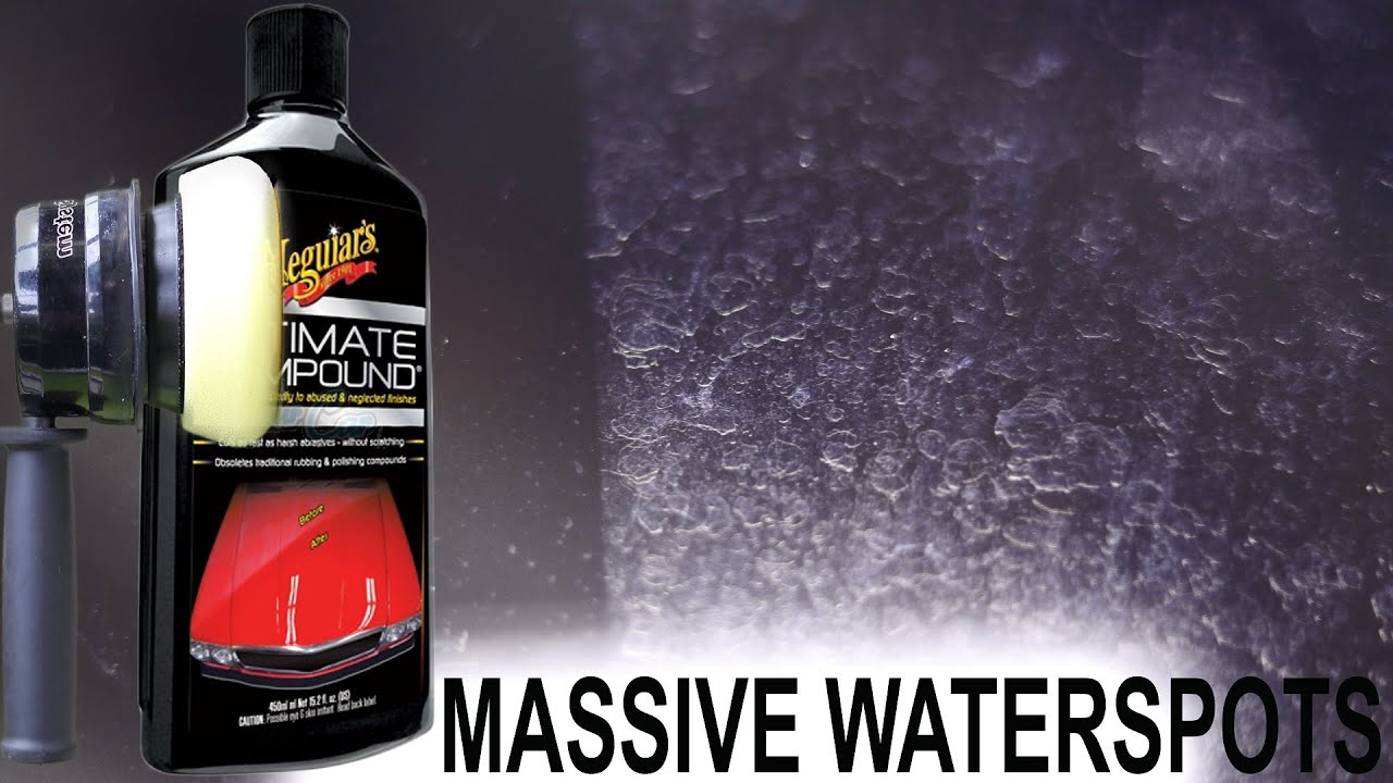 How To Remove Water Spots on Windshield : Meguiars Ultimate ...