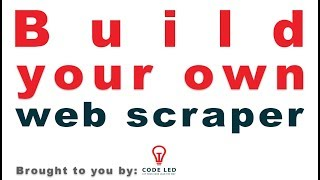 Build your own web scraper: Tools of the trade, installation, and first example