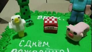 Minecraft cake / Торт Майнкрафт