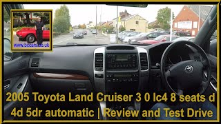 Virtual Video Test Drive In Our Toyota Land Cruiser 3 0 lc4 8 seats d 4d 5dr automatic