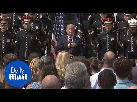 Trump sings national anthem at 'Celebration of America'