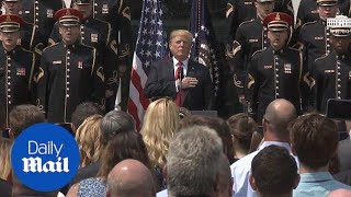Trump sings national anthem at 'Celebration of America' - Daily Mail