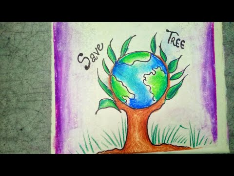 Easy Drawing Tree Save Nature Drawing For Kids Draw trees to branch out your skills and learn the basics of landscape drawing. easy drawing tree save nature drawing