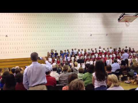 Divij Chakravarthi - Arongen Elementary School Grade 1 - Flag Day Concert, June 2013