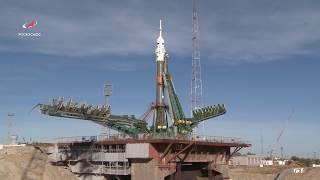 Вывоз РН «Союз-ФГ» с ТПК «Союз МС-10»