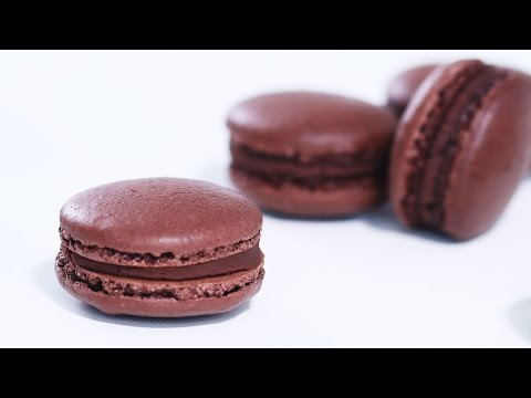 How To Cook That Chocolate Macarons