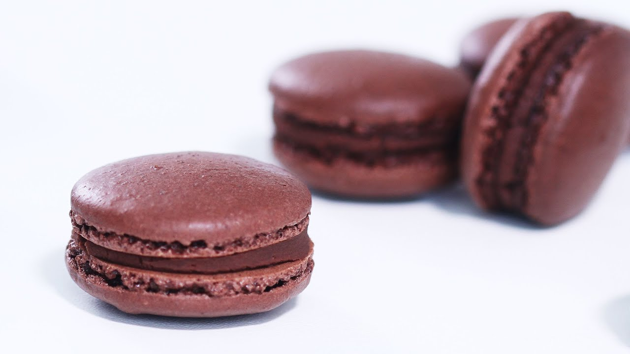 French Chocolate Macarons Recipe - YouTube