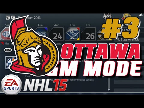 "NHL 15: GM Mode Commentary - Ottawa ep. 3 ""TRADE TIME"""