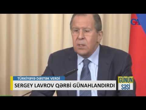 SERGEY LAVROV QƏRBİ GÜNAHLANDIRDI