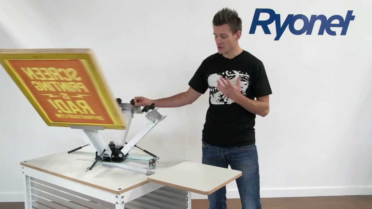 7753f7b0 All-New Ryonet® 4 Color Starter Screen Printing Press - YouTube