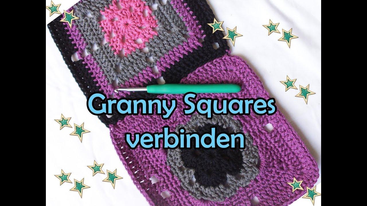 Granny Squares Verbinden Diy Häkelanleitung Youtube