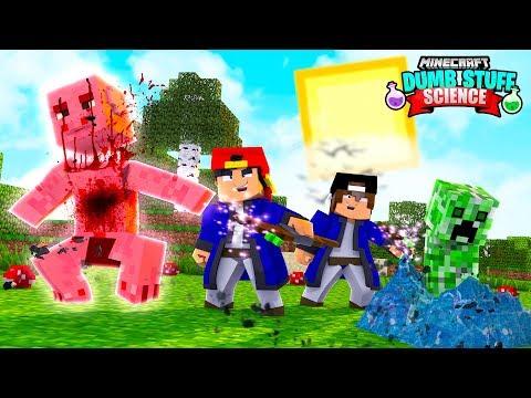 Minecraft DUMB STUFF SCIENCE - WEIRD WIZARDS AND MAGIC SPELLS!!