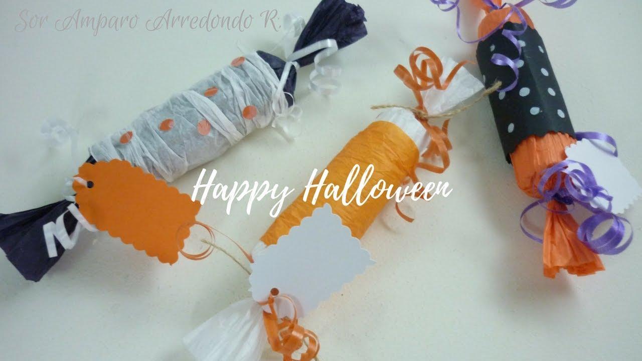 Manualidades Para Halloween Empacar Y Decorar Dulces Para Los Ninos - Manualidades-de-halloween-para-decorar