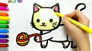 Drawing and Coloring for kids, toddlers I How to Draw #JollyToyArt