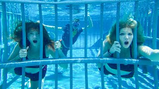 Last to Leave Underwater Prison Wins $1,000! - Challenge