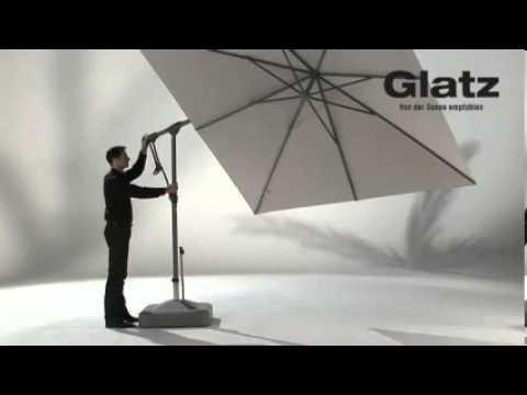 glatz sunwing c ampelschirm der 360 grad schattenspender youtube. Black Bedroom Furniture Sets. Home Design Ideas