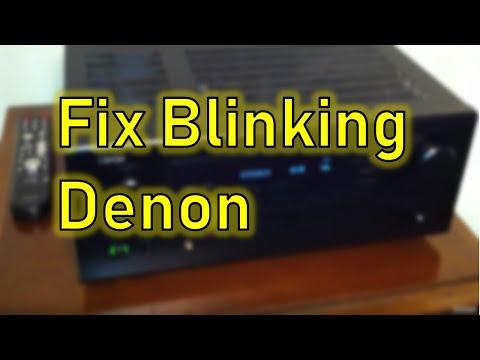 Red Blinking Power Indicator Denon Receiver AVR-488 - shuts