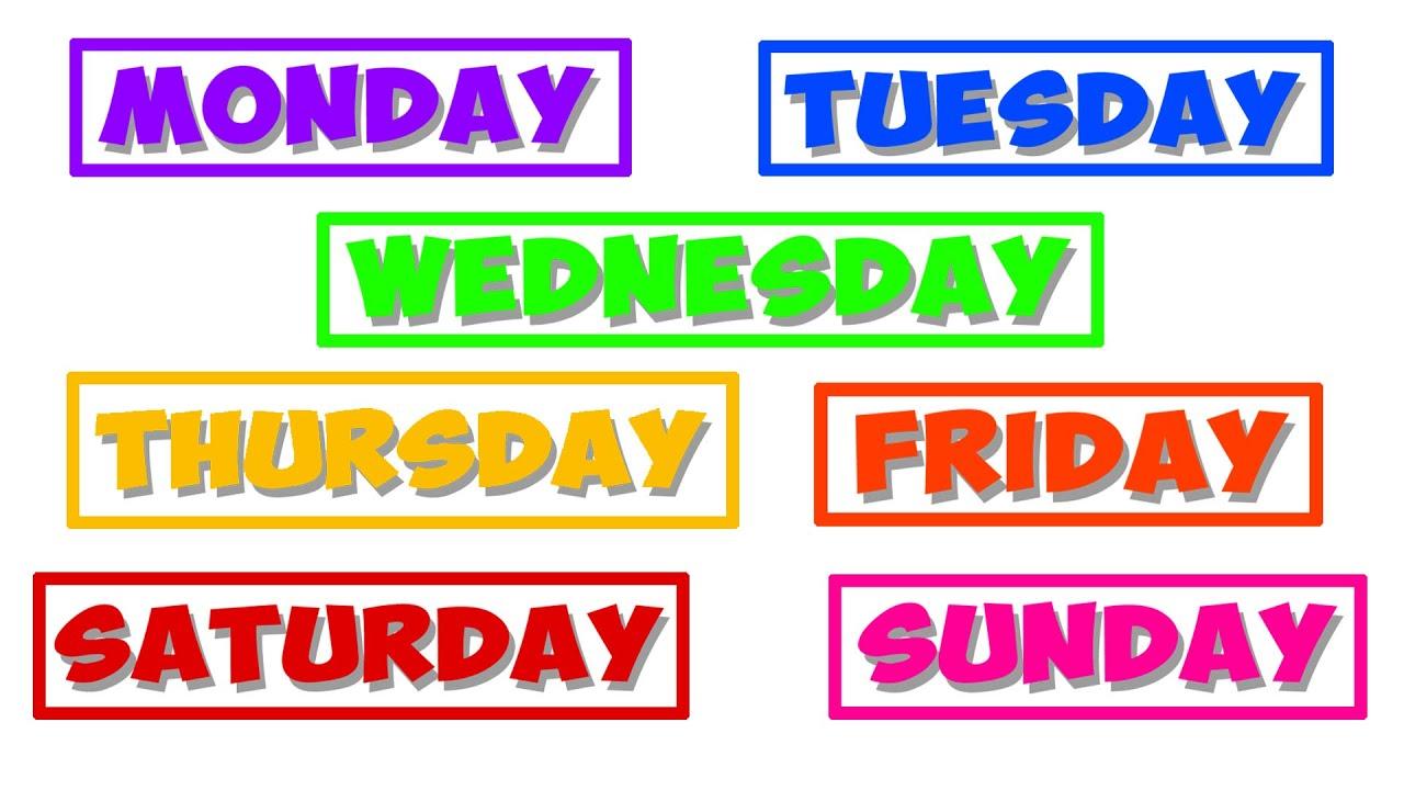 Days Of The Week Nursery Rhyme For Kids